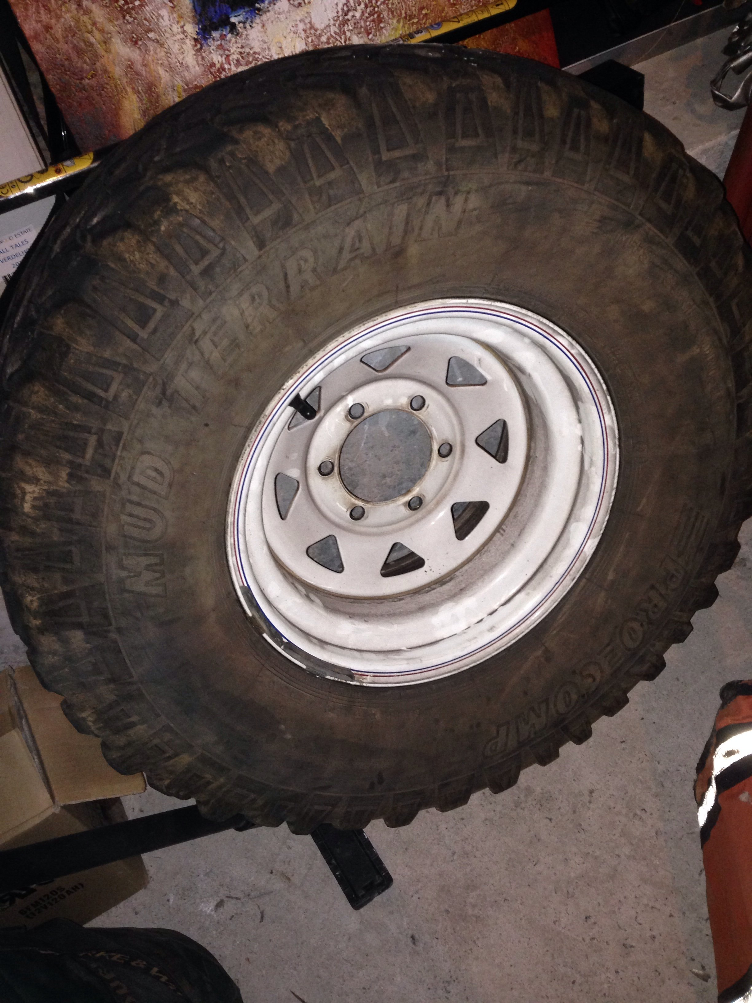 Vic For sale 33x12 5 R15 rim and tyre spare