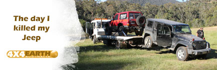 My Jeep being towed away forever.